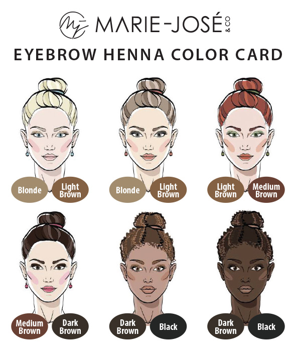 Eyebrow Henna Color Card