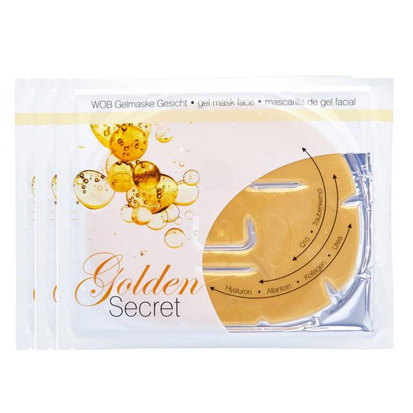 Χρυσή Μάσκα Προσώπου - Golden Secret Face Gelmask (Σετ 3 Τεμ.)