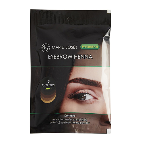MJ EYEBROW HENNA - Multi Color Set - 5 φακελάκια x 1g