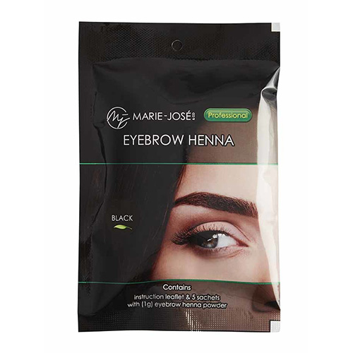 MJ EYEBROW HENNA - Black - 5 φακελάκια x 1g