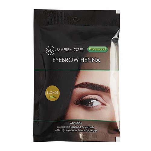 MJ EYEBROW HENNA - Blonde - 5 φακελάκια x 1g